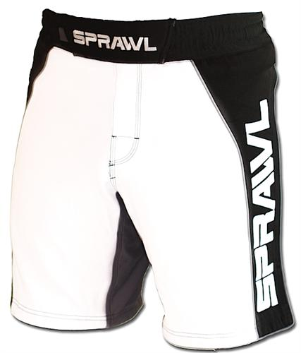 Sprawl Fusion II Stretch Series White/Black Shorts